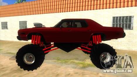 1974 Dodge Monaco Monster Truck pour GTA San Andreas laissé vue