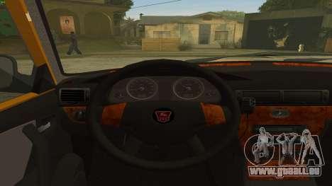 GAZ 31105 Volga Taxi FIV pour GTA San Andreas vue de droite