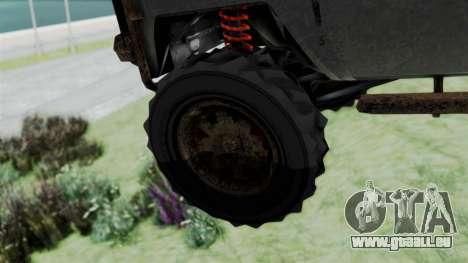 GTA 5 Karin Rebel 4x4 Worn pour GTA San Andreas sur la vue arrière gauche