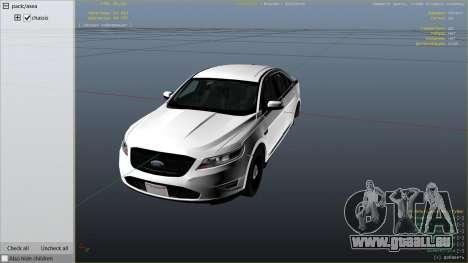GTA 5 Ford Taurus rechte Seitenansicht