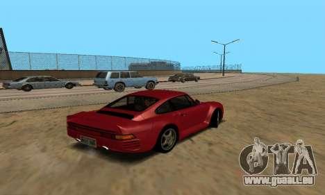 Porsche 959 pour GTA San Andreas laissé vue