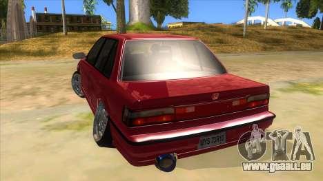 Honda Civic Ef Sedan pour GTA San Andreas sur la vue arrière gauche