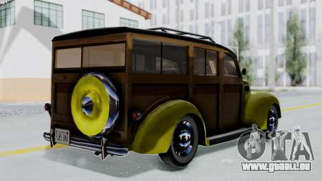 Ford V-8 De Luxe Station Wagon 1937 Mafia2 v1 pour GTA San Andreas laissé vue