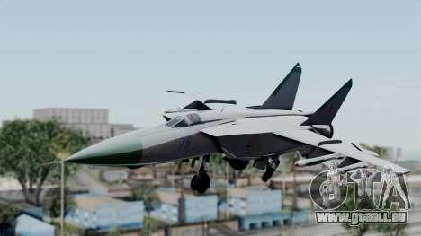 MIG-25 Foxbat für GTA San Andreas