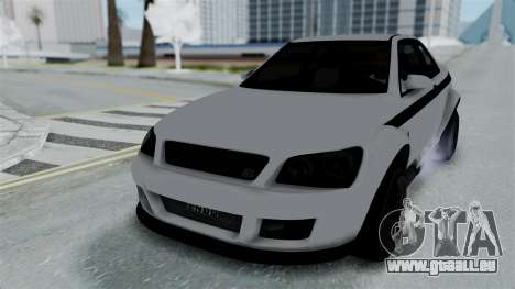 GTA 5 Karin Sultan RS Stock PJ für GTA San Andreas Rückansicht