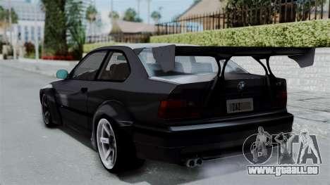 BMW M3 E36 Widebody pour GTA San Andreas laissé vue