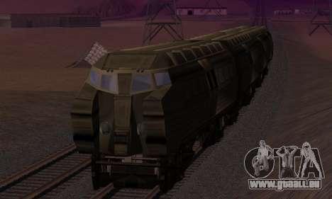 Batman Begins Monorail Train v1 pour GTA San Andreas vue de dessous