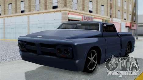 Augmentée. pour GTA San Andreas sur la vue arrière gauche