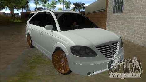 SsangYong Rodius 3.2 AT 2007 pour GTA San Andreas vue arrière
