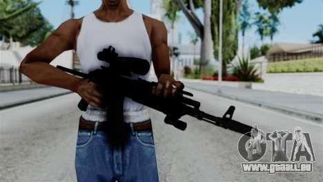 AK-103 OGA pour GTA San Andreas troisième écran