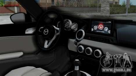 Mazda MX-5 Miata 2016 pour GTA San Andreas vue de droite