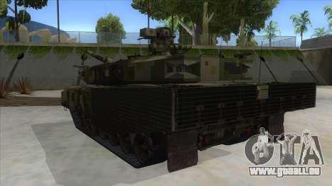 MBT52 Kuma pour GTA San Andreas sur la vue arrière gauche