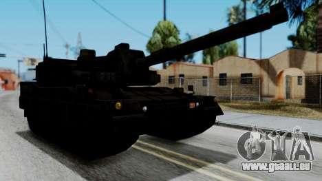 Point Blank Black Panther Woodland für GTA San Andreas zurück linke Ansicht