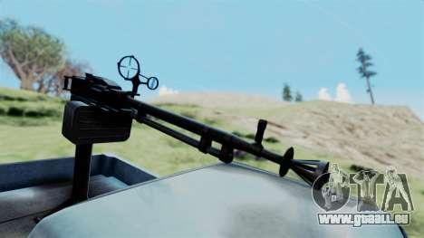 GTA 5 Karin Technical Machinegun IVF pour GTA San Andreas vue de droite