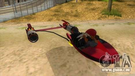 StarWars Anakin Podracer für GTA San Andreas zurück linke Ansicht