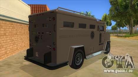 GTA 5 Brute Riot Police pour GTA San Andreas vue de droite