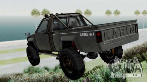 GTA 5 Karin Rebel 4x4 Worn für GTA San Andreas linke Ansicht