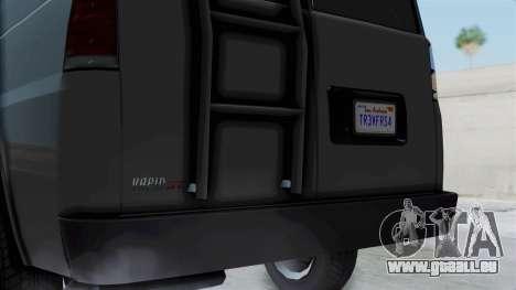 Vapid Speedo Newsvan pour GTA San Andreas sur la vue arrière gauche