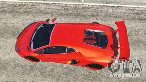 GTA 5 Lamborghini Aventador v1.0 vue arrière