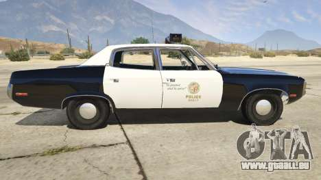 GTA 5 1972 AMC Matador LAPD linke Seitenansicht