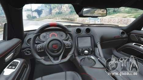 GTA 5 Dodge Viper SRT ACR 2016 hinten rechts