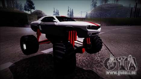 GTA 5 Bravado Gauntlet Monster Truck pour GTA San Andreas vue de droite