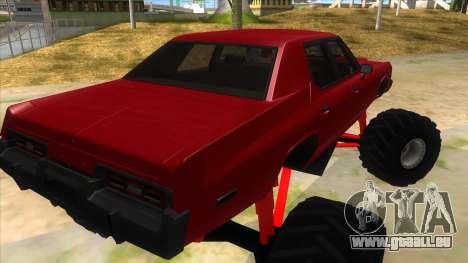 1974 Dodge Monaco Monster Truck pour GTA San Andreas vue de droite