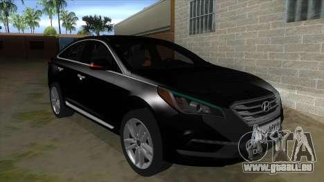 Iranian Hyundai Sonata Turbo für GTA San Andreas Rückansicht