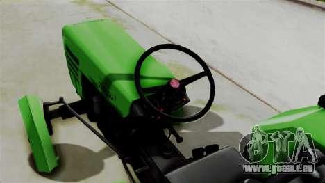 Torpedo Traktor pour GTA San Andreas sur la vue arrière gauche