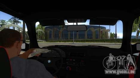 BMW M3 E30 1991 pour GTA San Andreas vue intérieure