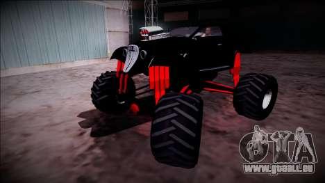 GTA 5 Hotknife Monster Truck pour GTA San Andreas vue de dessus