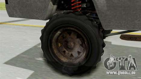 GTA 5 Karin Technical Machinegun für GTA San Andreas zurück linke Ansicht