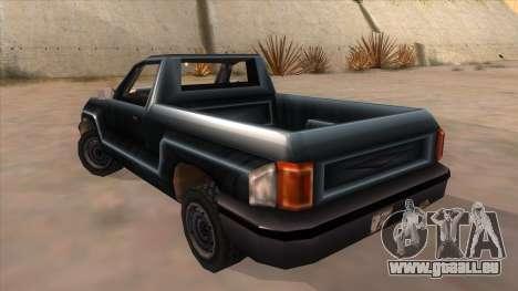GTA III Bobcat Original Style pour GTA San Andreas sur la vue arrière gauche