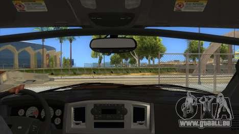Dodge Ram SRT DES 2012 pour GTA San Andreas vue intérieure