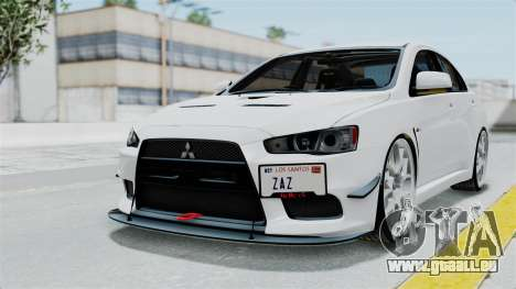 Mitsubishi Lancer Evolution X GSR Full Tunable für GTA San Andreas
