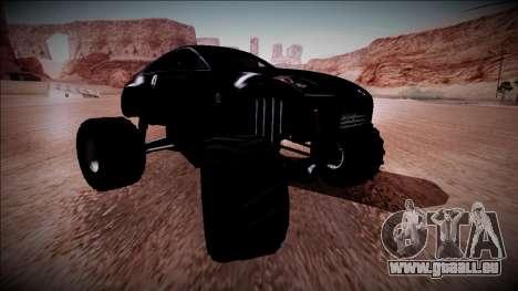 Nissan 350Z Monster Truck für GTA San Andreas Unteransicht