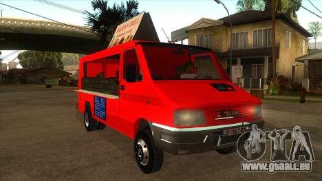 Zastava Daily 35B Special pour GTA San Andreas vue arrière