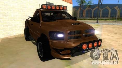 Dodge Ram SRT DES 2012 für GTA San Andreas Rückansicht