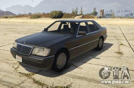 Mercedes-Benz S600 (W140) [Replace] v1.1 für GTA 5