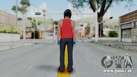 Biker from Hotline Miami pour GTA San Andreas troisième écran