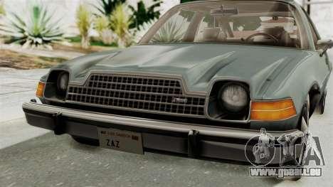 AMC Pacer 1978 IVF pour GTA San Andreas vue de côté