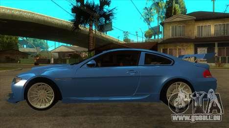 BMW M6 Full Tuning pour GTA San Andreas laissé vue