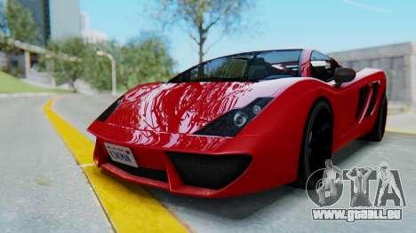 GTA 5 Pegassi Vacca SA Style pour GTA San Andreas sur la vue arrière gauche