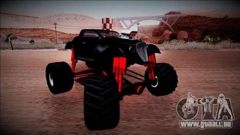 GTA 5 Hotknife Monster Truck für GTA San Andreas Rückansicht