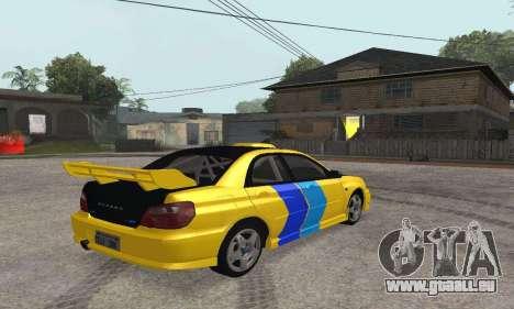 Subaru Impreza WRX STi Tunable pour GTA San Andreas vue de droite