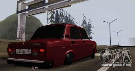 VAZ 2107 NNBPAN pour GTA San Andreas sur la vue arrière gauche