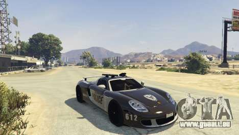 GTA 5 Porsche Carrera GT Cop linke Seitenansicht