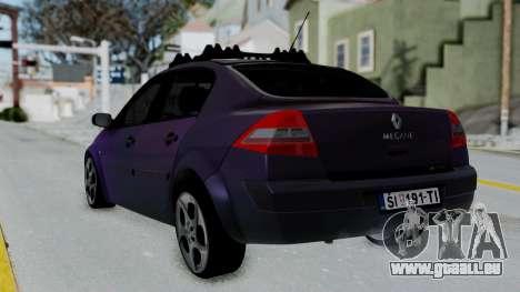 Renault Megane II pour GTA San Andreas laissé vue