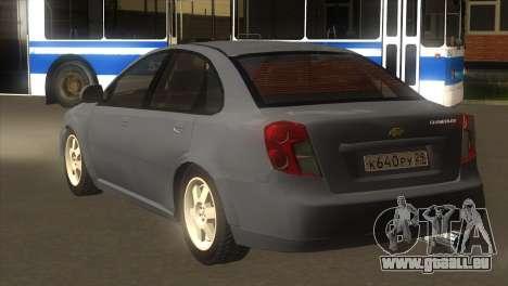 Chevrolet Lacetti Sedan pour GTA San Andreas sur la vue arrière gauche