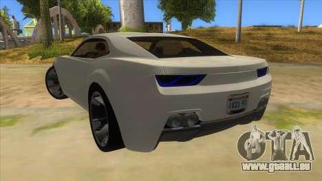 Chevrolet Camaro DOSH tuning MQ pour GTA San Andreas sur la vue arrière gauche